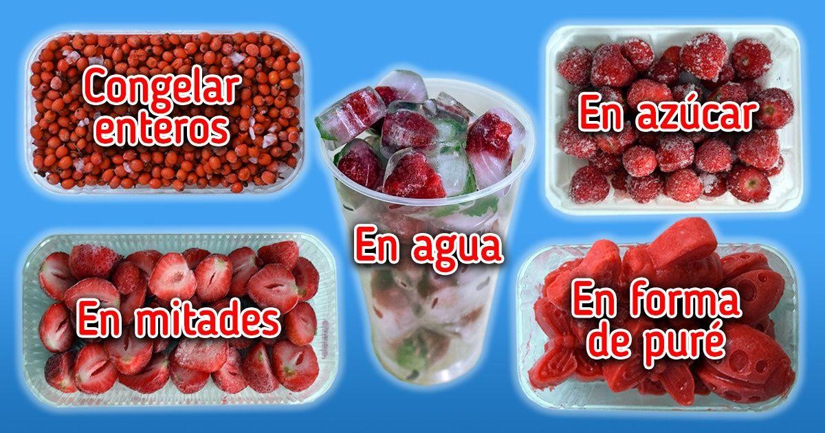 Cómo congelar los frutos rojos para conservar su sabor fresco y su aroma