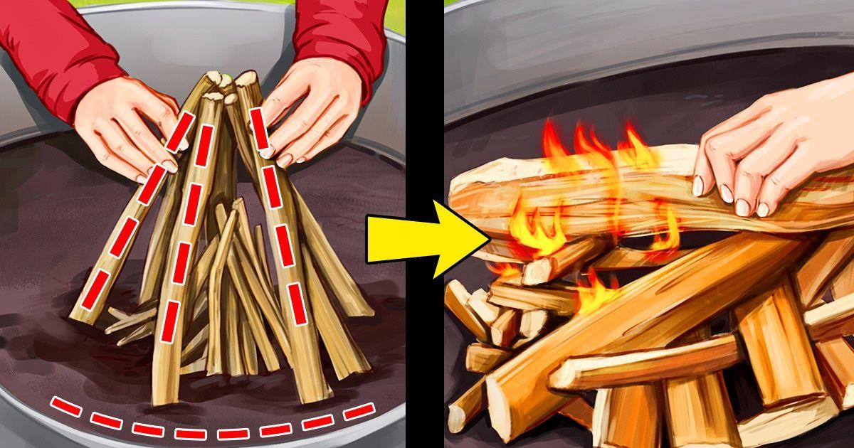 Cómo hacer una fogata